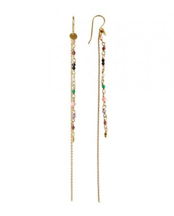 Foto af Stine A Petit Gemstones With Long Chain Earring