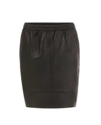 Foto af Coster Copenhagen Skirt In Leather Black