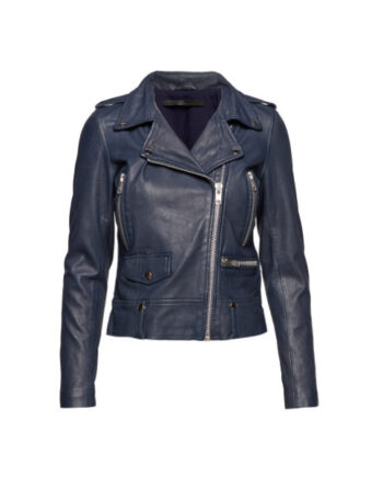 Foto af MDK Seattle Colour Leather Jacket Blue Night