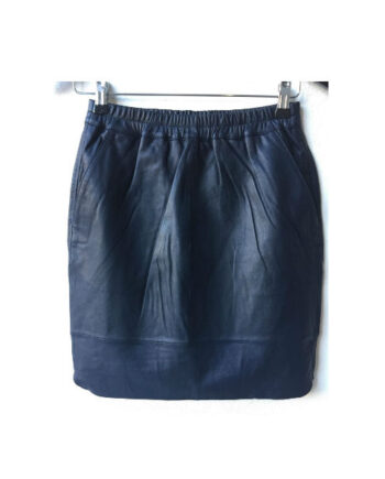 Foto af Coster Copenhagen Leather Skirt Dark Blue