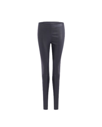 Foto af Coster Copenhagen Leather Stretch Leggins - Mynte Dark Blue