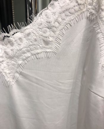 Foto af Coster Copenhagen Strap Top. W. Lace Off White