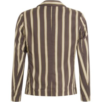 Foto af Coster Copenhagen Jacket In Prited Stripe Grey Plum Stripe