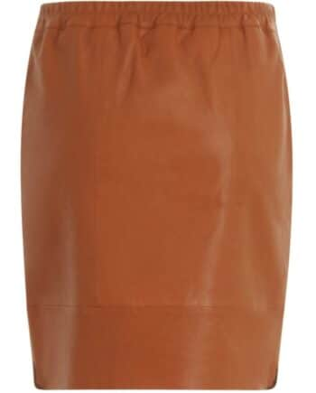 Foto af Coster Copenhagen Leather Skirt Rust