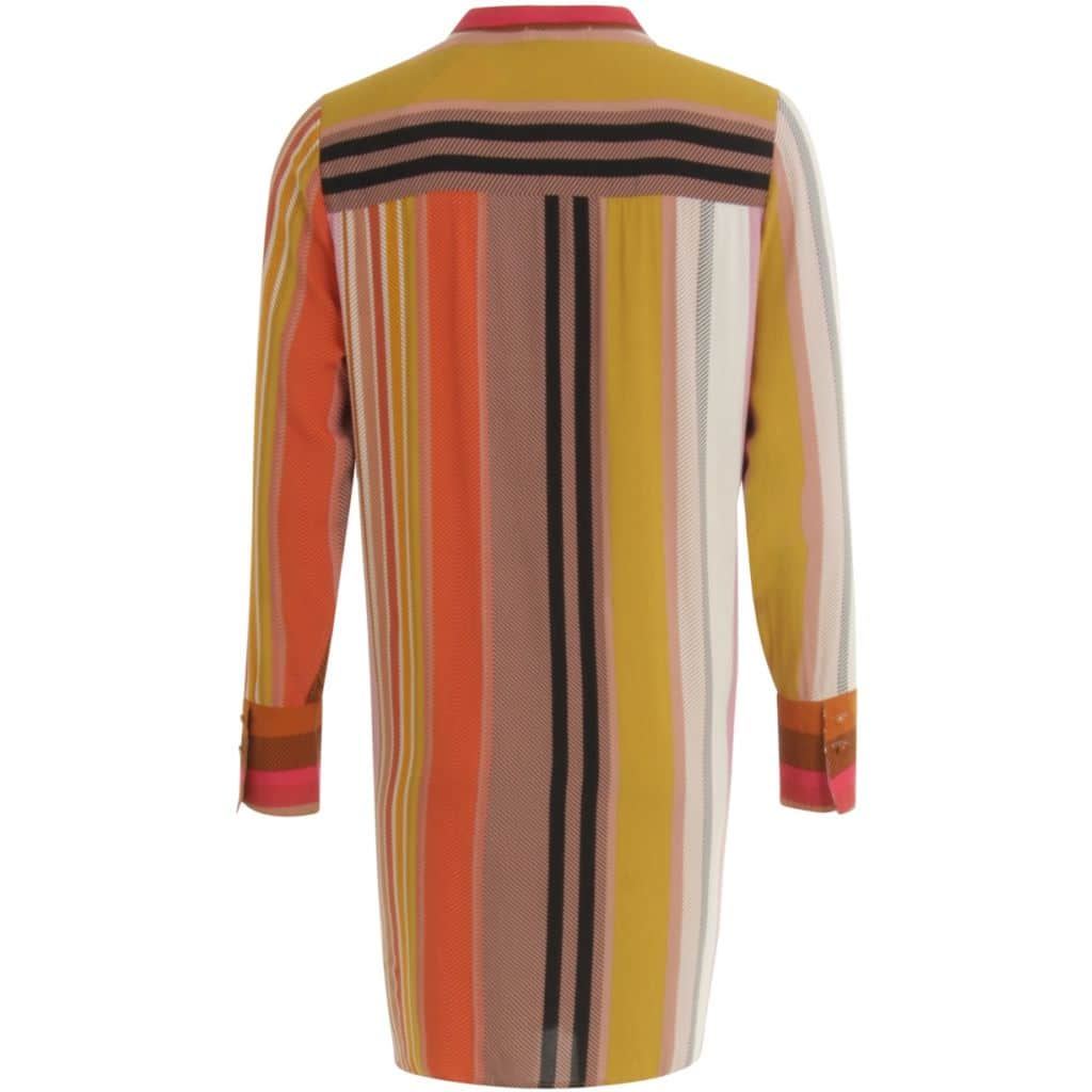 Coster Copenhagen Lang Skjorte i Multi Color Stripe