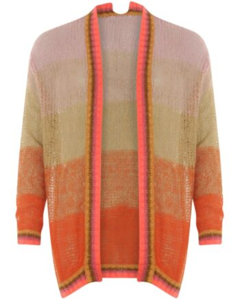 Foto af Coster Copenhagen Cardigan In Mohair And Handknit Look Stripes