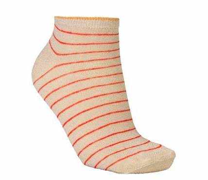 Foto af BeckSöndergaard Dollie Stripe Sock Red Love
