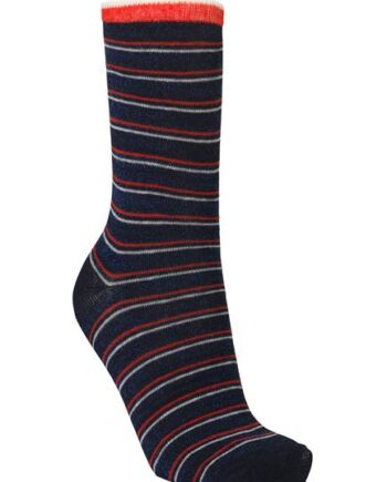 Foto af BeckSöndergaard Dory Thin Stripe Sock Blue Nights