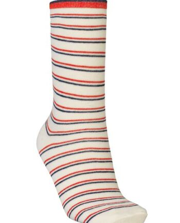 Foto af BeckSöndergaard Dory Thin Stripe Sock Red Love