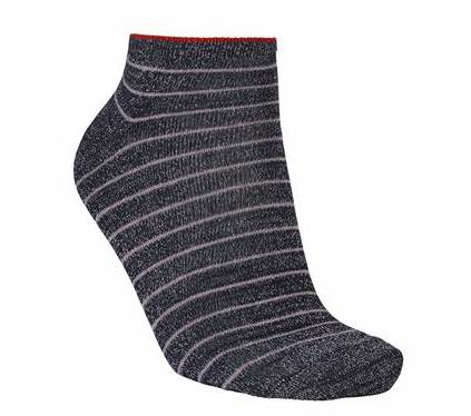 Foto af BeckSöndergaard Dollie Stripe Sock Navy Blue