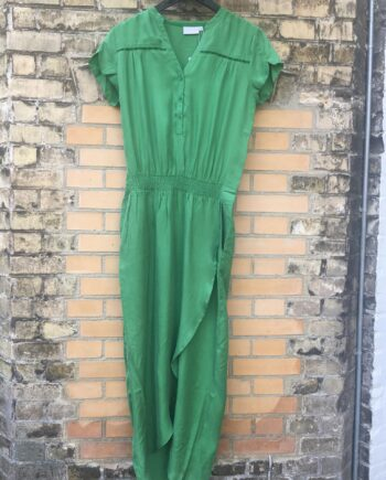 Foto af Coster Copenhagen Dress W. Lace And Wrap Effect Forrest Green