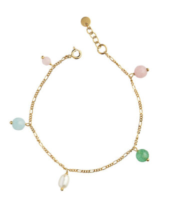 Foto af Stine A Candy Floss Bracelet Gemstones And Pearl Gold