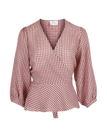 Foto af Neo Noir Didi Check Blouse Light Pink