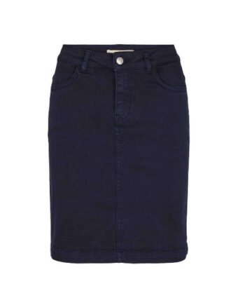 Foto af BasicApparel Eve Denim Skirt Dark Navy