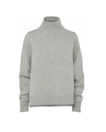 Foto af Norr Sadie Knit Top Light Grey Melange