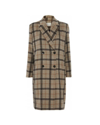 Foto af Norr Hazel Lapel Coat Light Brown Check