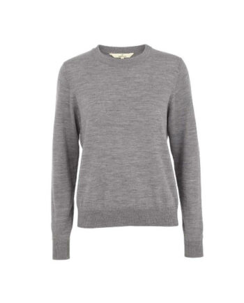 Foto af BasicApparel Vera Sweater Light Grey Melange