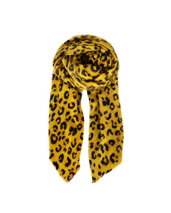 Foto af Black Colour Cosmo Scarf Mustard Yellow