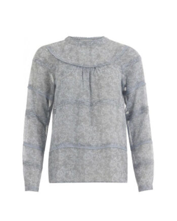 Foto af Coster Copenhagen Blouse In Frost Print W. Lace Frost Print