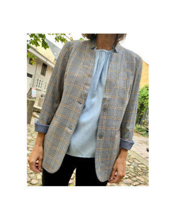 Foto af Coster Copenhagen Suit Jacket In Check Snow Blue