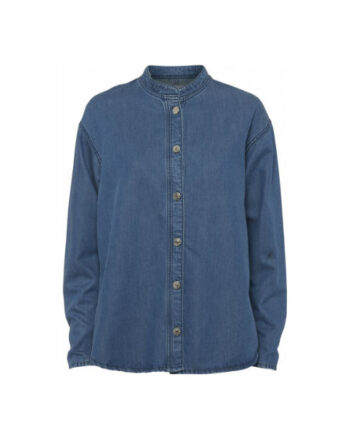 Foto af Norr Brandi Denim Shirt Blue