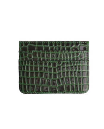 Foto af Hvisk Card Holder Croco Jungle Green