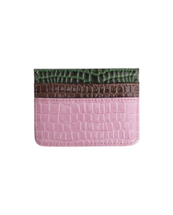 Foto af Hvisk Card Holder Multi Croco Pink