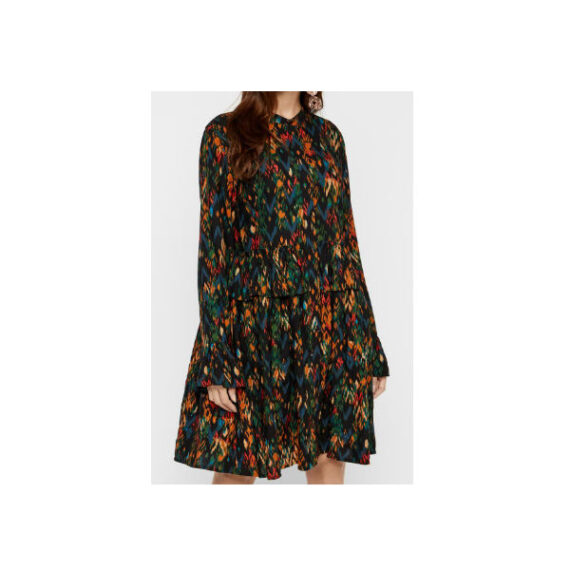 Foto af YAS Manon LS Knee Dress Black/Manon Print