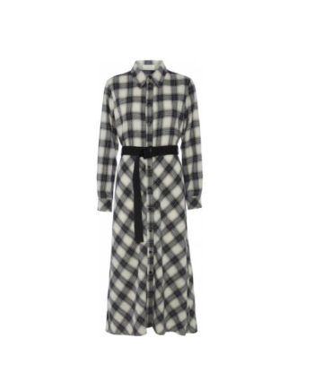 Foto af Norr Nyla Dress Navy Check