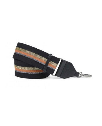 Foto af MARKBERG Finley Guitar Strap Black w/Gold+Orange+Silver