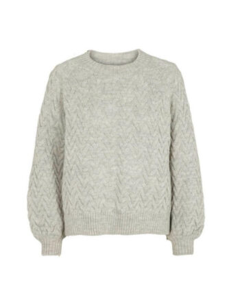Foto af BasicApparel Emma Sweater Light Grey Melange