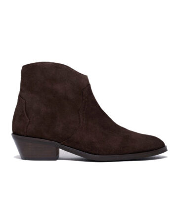 Foto af Anonymous Copenhagen Fiona 35 Calf Suede Coffee Black Heel