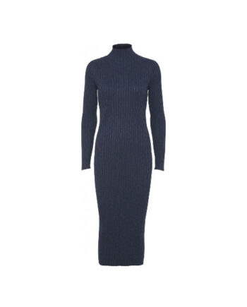 Foto af Norr Karlina Knit Dress Blue Melange