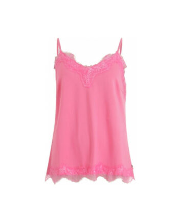 Foto af Coster Copenhagen Strap Top W. Lace Clear Pink