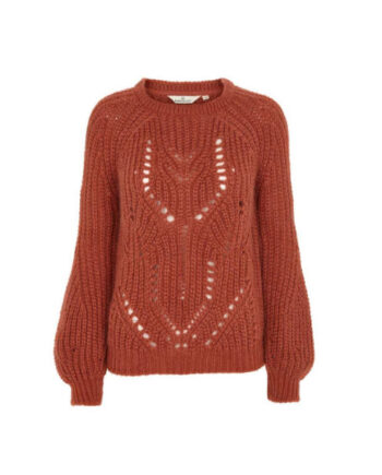 Foto af BasicApparel Olvina Sweater Red Rust