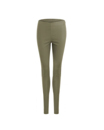 Foto af Coster Copenhagen Leather Stretch Leggings Mynte Moss Green
