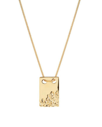 Foto af Maria Black Rock Tag 60 Necklace Gold