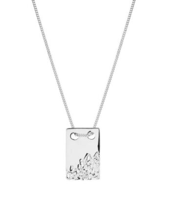 Foto af Maria Black Rock Tag 60 Necklace Silver