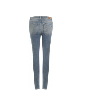 Foto af Coster Copenhagen Super Slim Jeans W. Detroy Effect Medium Blue