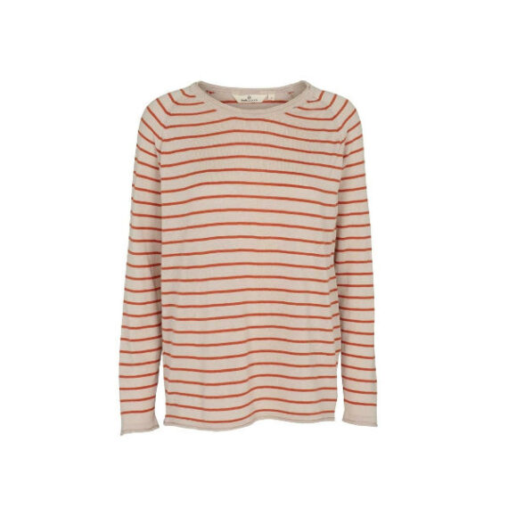 Foto af BasicApparel Soya Sweater Stripe Sand/Orange