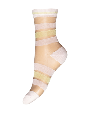 Foto af Decoy Ankle Sock Transparent Pink/gul
