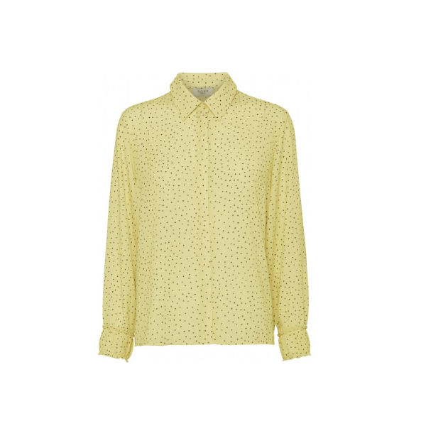 Foto af Norr Amba Shirt Light Yellow Dot
