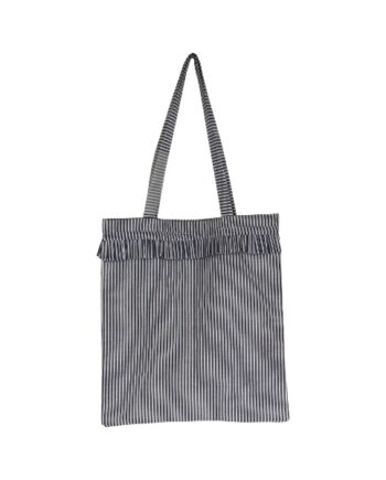 Foto af Black Colour SIV Striped frill Shopper Blue