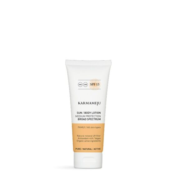 Foto af Karmameju Sun Body Lotion SPF 15, 100 ml.