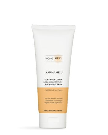 Foto af Karmameju Sun Body Lotion SPF 15, 200 ml.