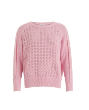 Foto af Coster Copenhagen Knit with Round Neck And Long Sleeves Dip Dye Pink