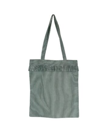 Foto af Black Colour SIV Striped Frill Shopper Green