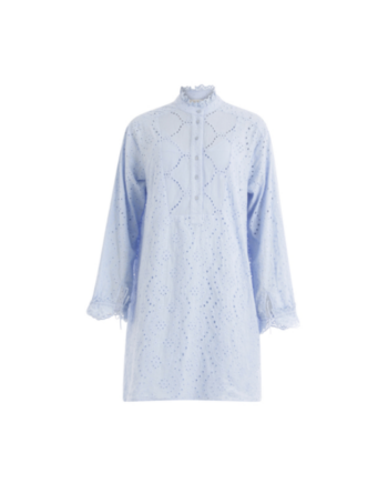 Foto af Coster Copenhagen Dress W. Frill Detail And Broderie Anglaise Blue Fog