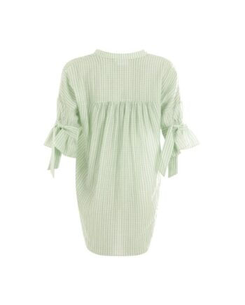 foto af Coster Copenhagen Top w. Tieband At Sleeves Aqua Mint Checks
