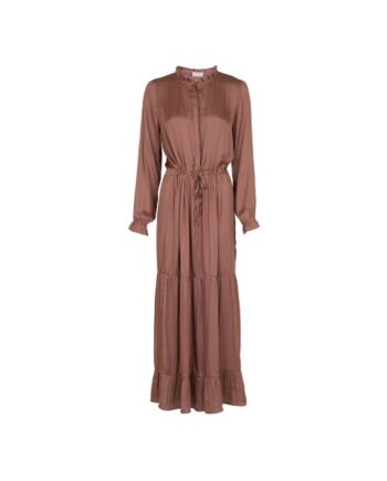 foto af Neo Noir Silo Solid Sateen Dress Toffee